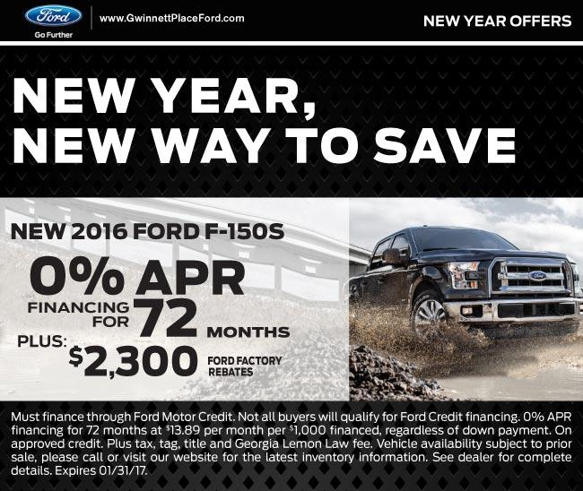 Zero Percent Apr For 72 Months Gwinnett Place Ford